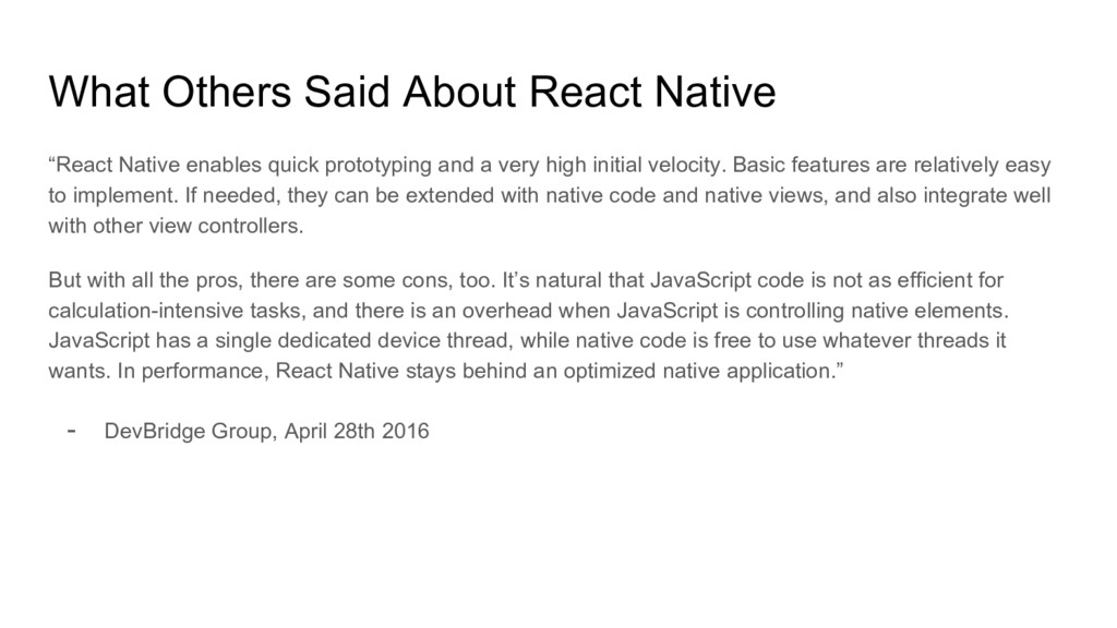 """What Others Said About React Native """"React Nati..."""