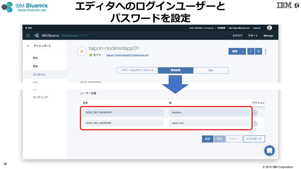 © 2016 IBM Corporation 28 IBM Bluemix www.bluem...
