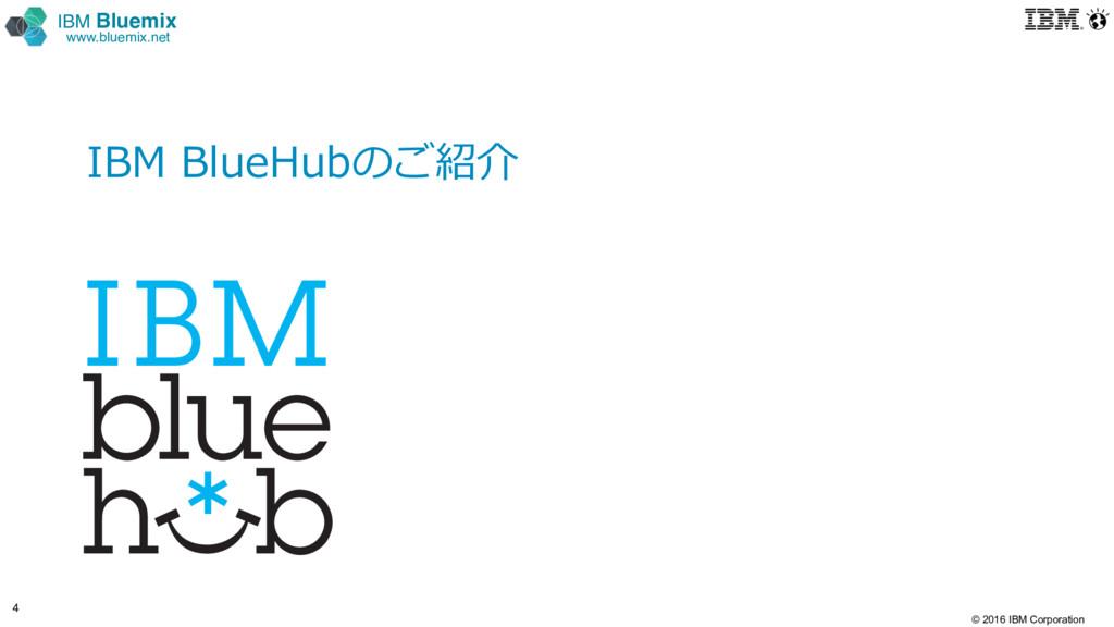© 2016 IBM Corporation 4 IBM Bluemix www.bluemi...