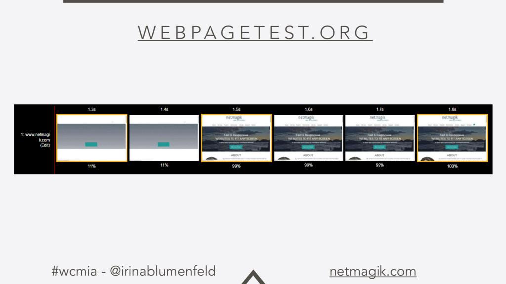 #wcmia - @irinablumenfeld netmagik.com W E B PA...