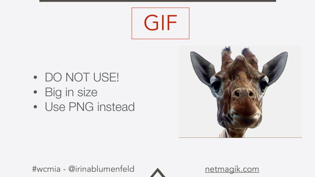 #wcmia - @irinablumenfeld netmagik.com • DO NOT...