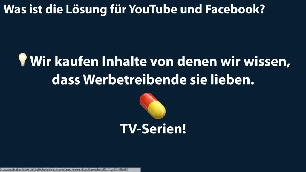 Was ist die Lösung für YouTube und Facebook? ht...