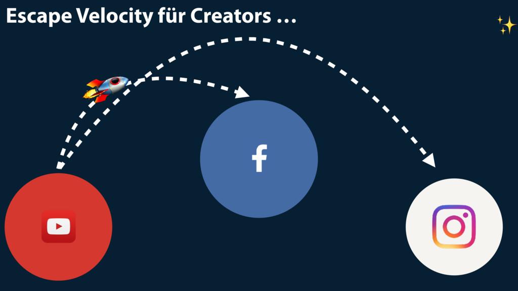 Escape Velocity für Creators …  ✨