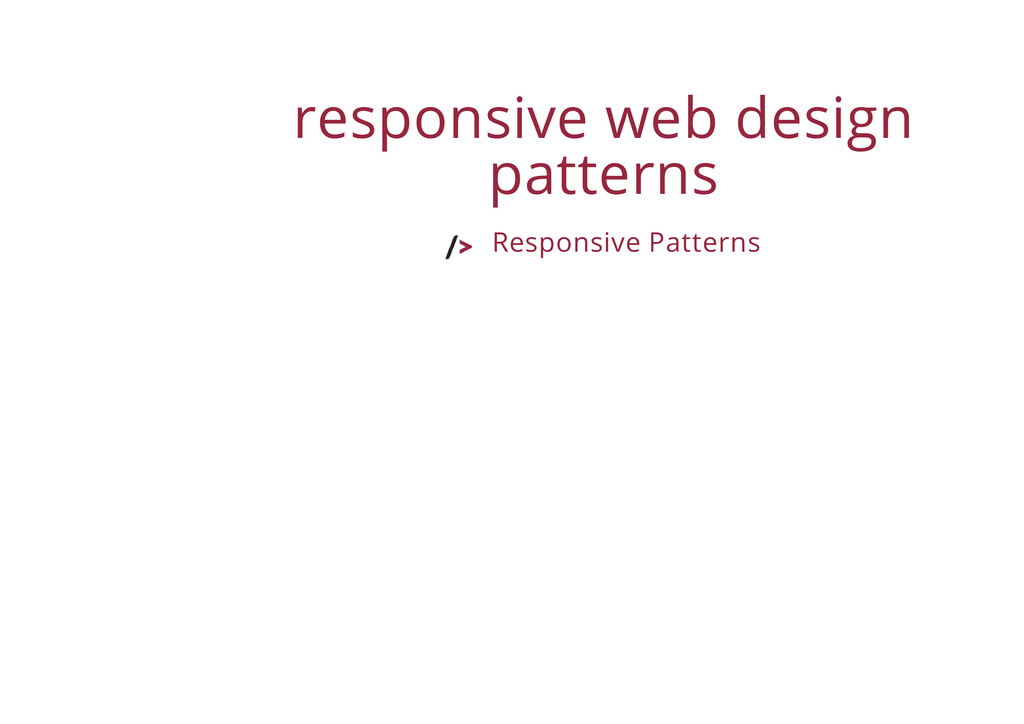 responsive web design patterns Responsive Patte...