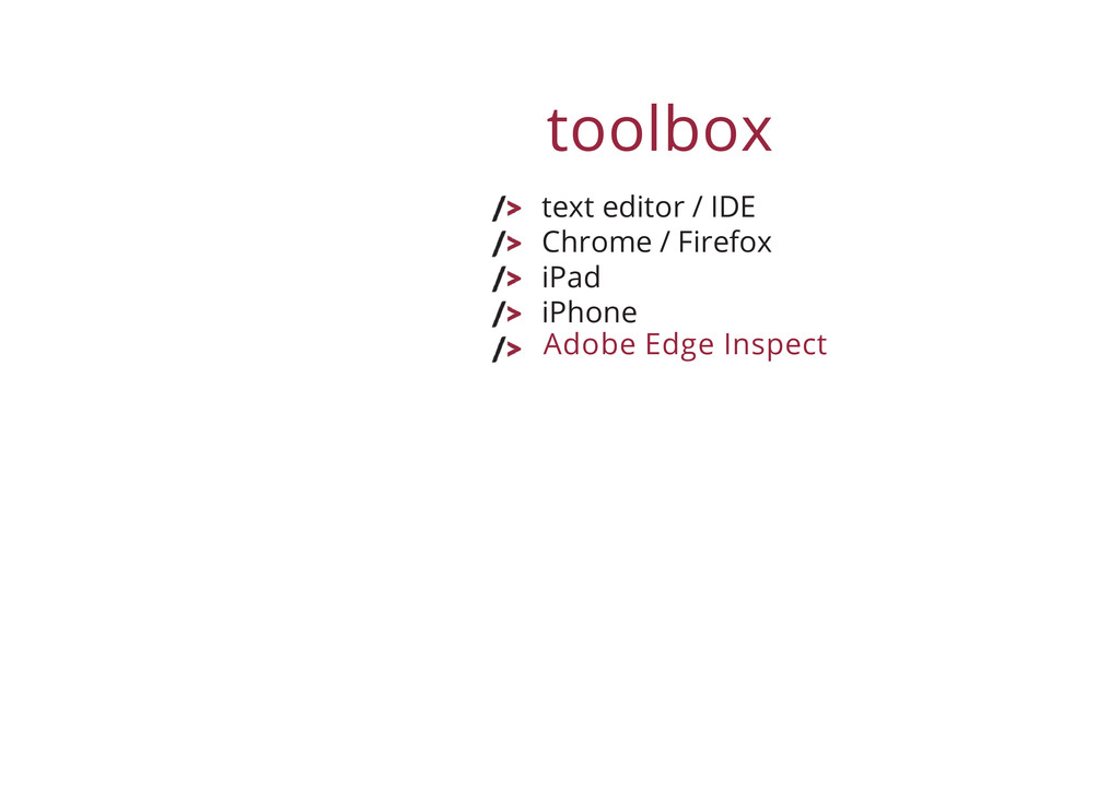 toolbox text editor / IDE Chrome / Firefox iPad...