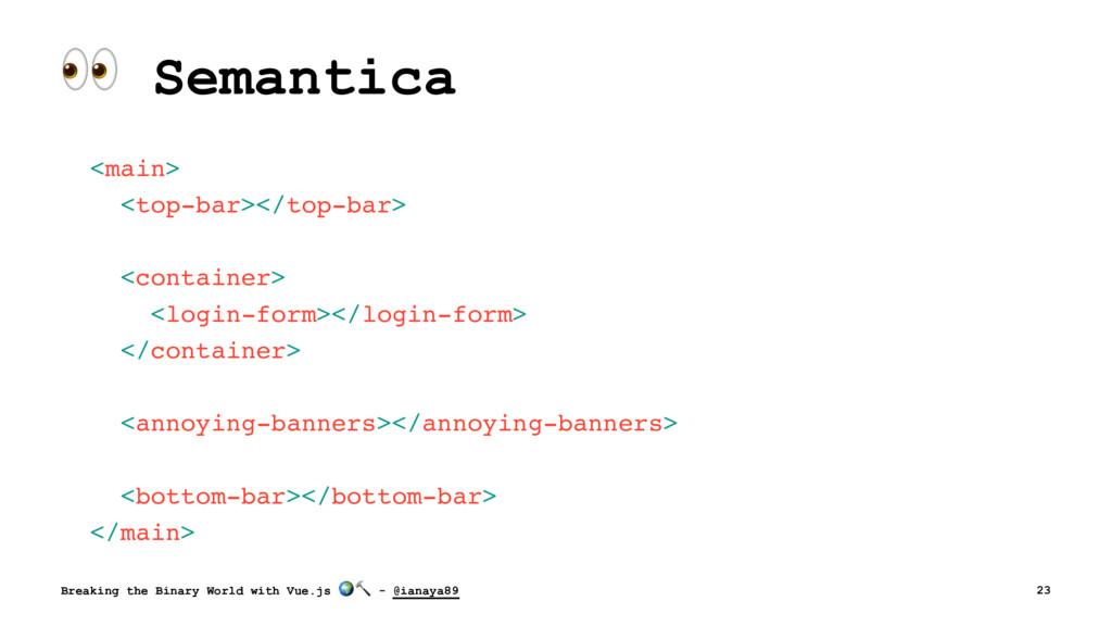 ! Semantica <main> <top-bar></top-bar> <contain...