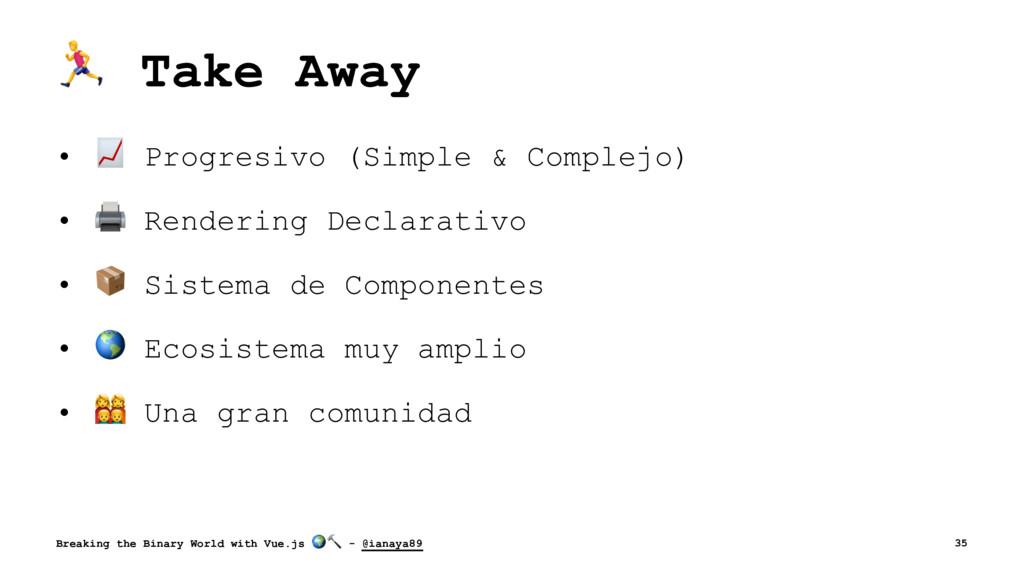 ! Take Away • ! Progresivo (Simple & Complejo) ...
