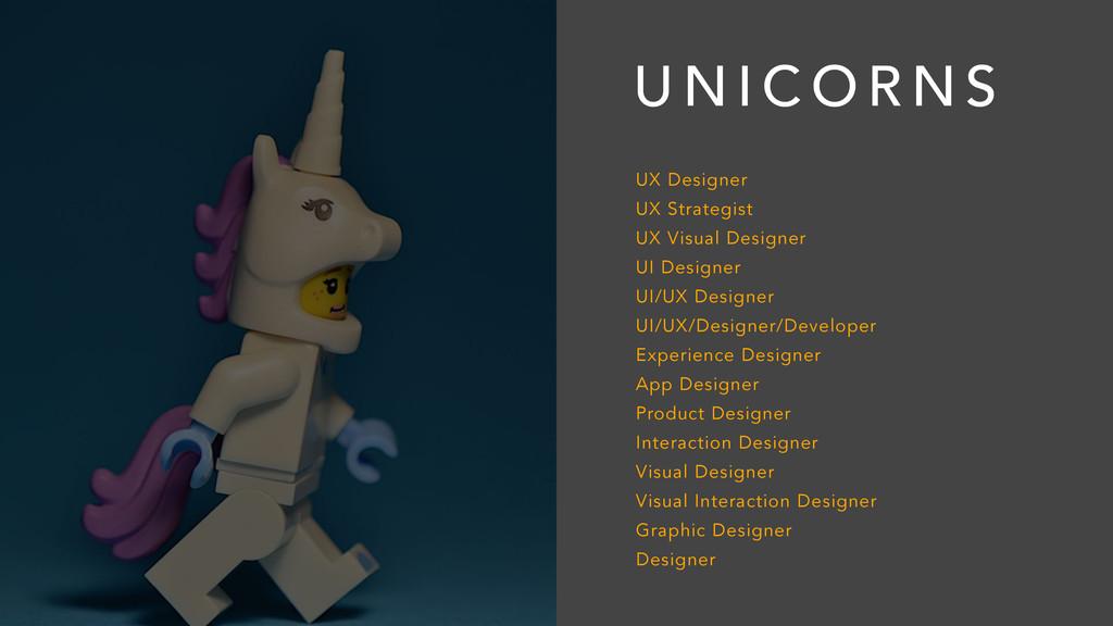 U N I C O R N S UX Designer UX Strategist UX Vi...