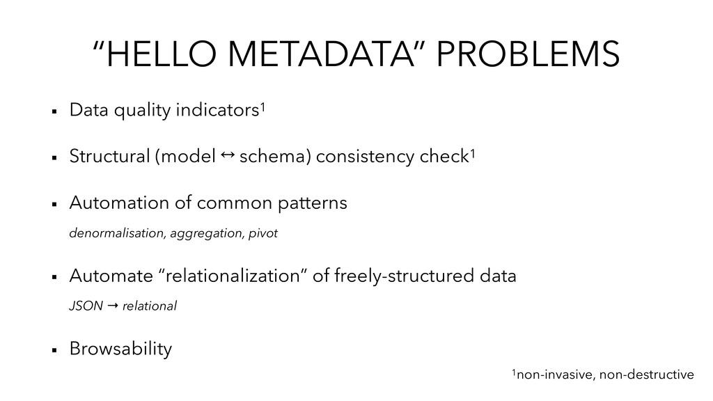 """HELLO METADATA"" PROBLEMS ▪︎ Data quality indic..."