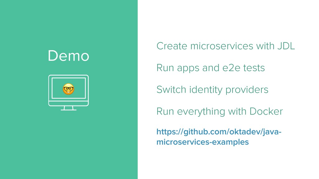 Demo Create microservices with JDL   Run apps a...