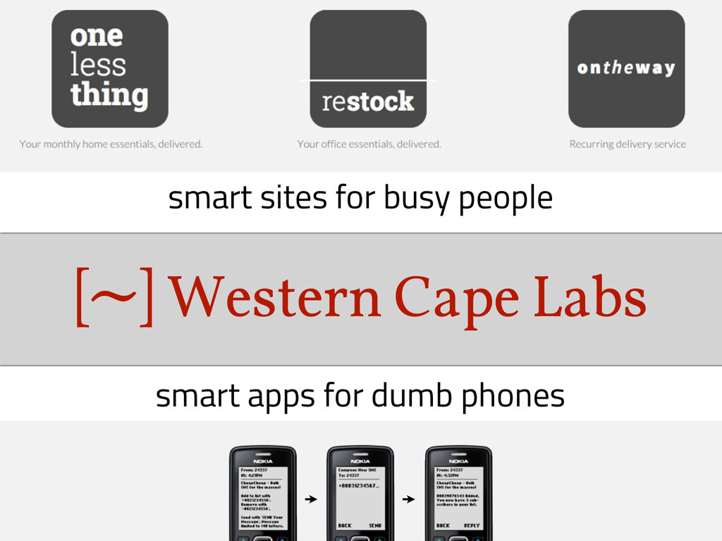 Western Cape Labs ~ [ ] smart apps for dumb pho...
