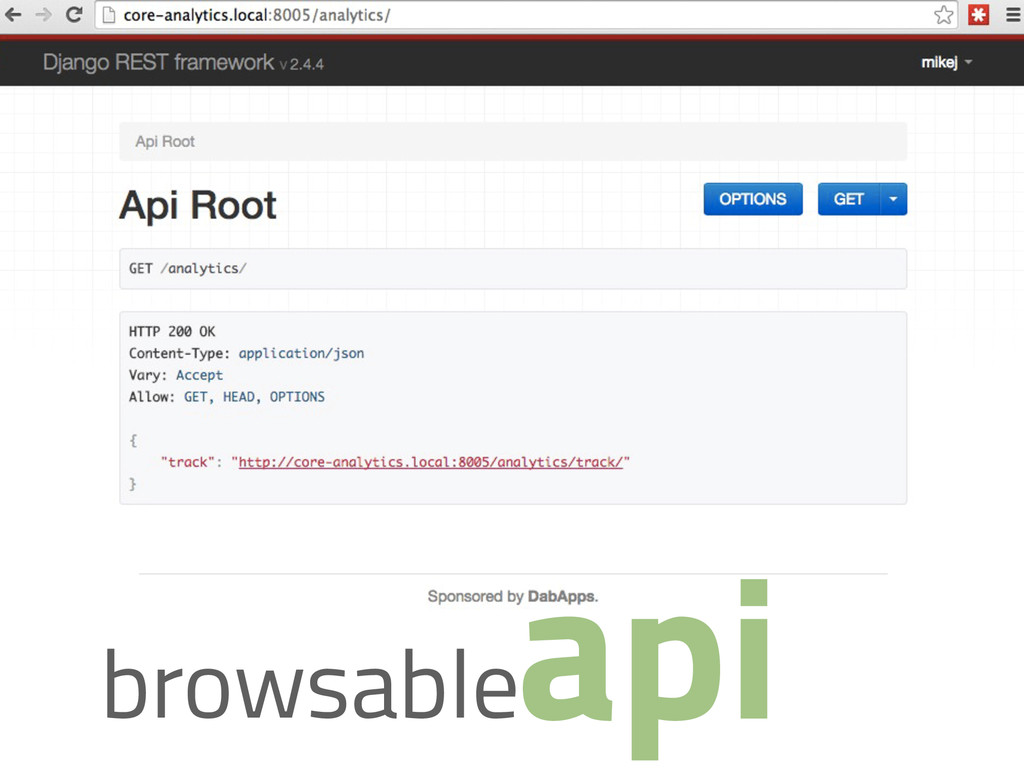 api browsable