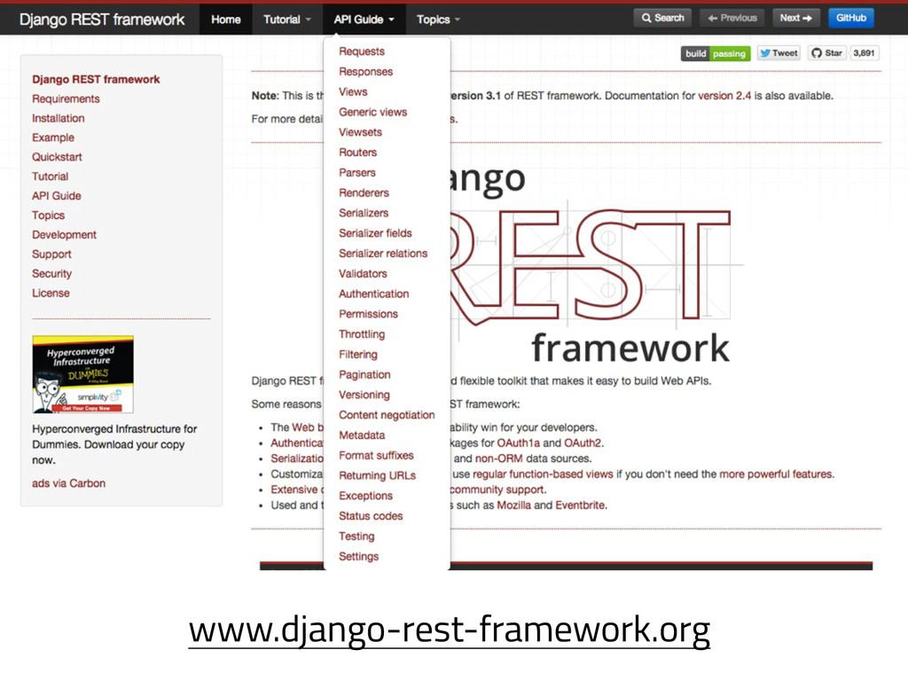 www.django-rest-framework.org