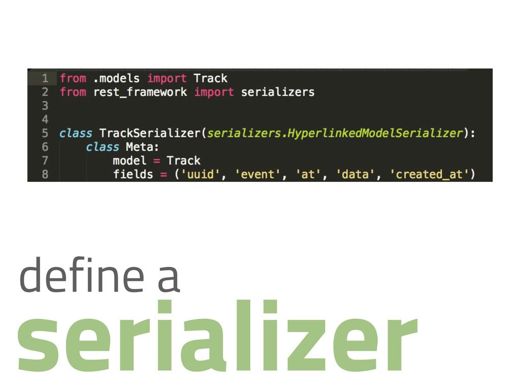 serializer define a