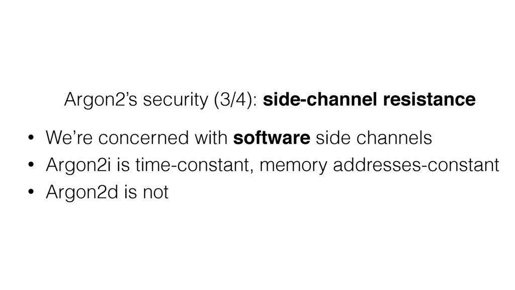 Argon2's security (3/4): side-channel resistanc...