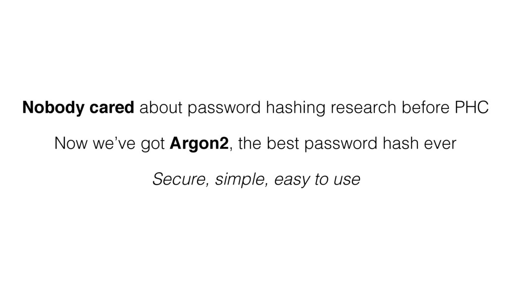 Nobody cared about password hashing research be...