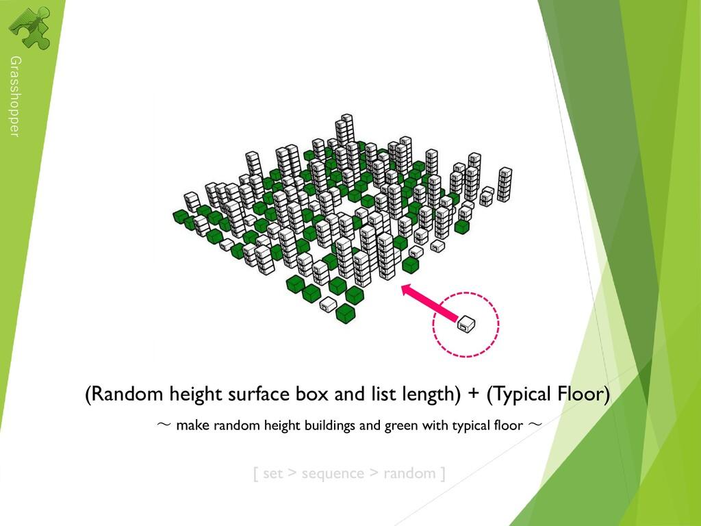 Grasshopper (Random height surface box and list...