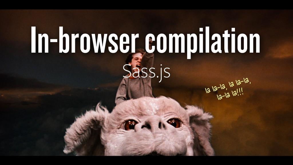 In-browser compilation Sass.js la