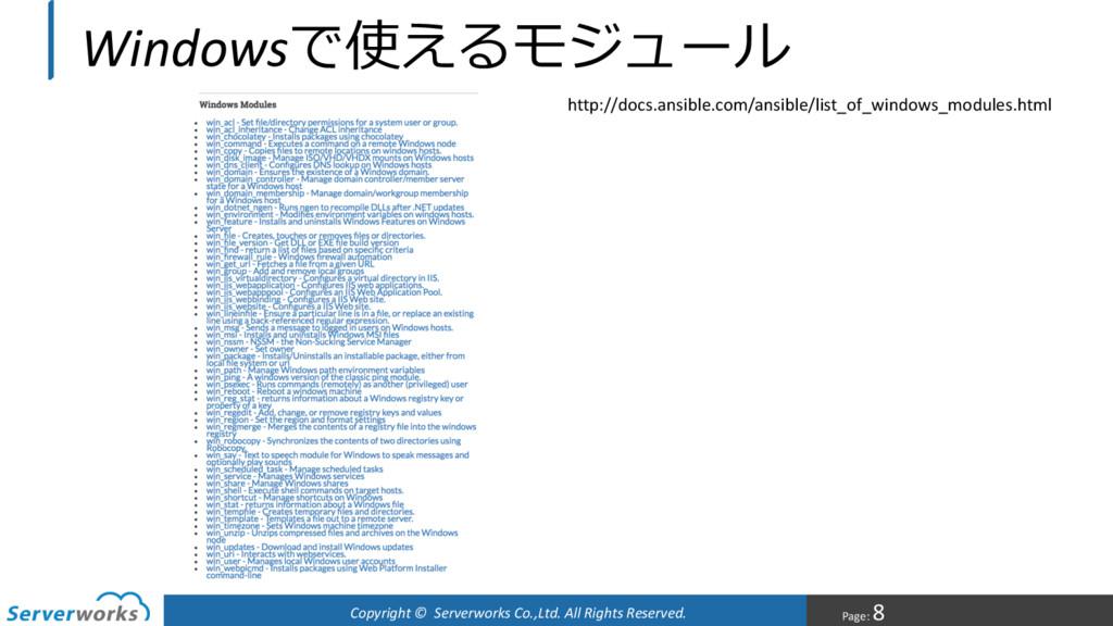 Page: 8 Copyright © Serverworks Co.,Ltd. All Ri...