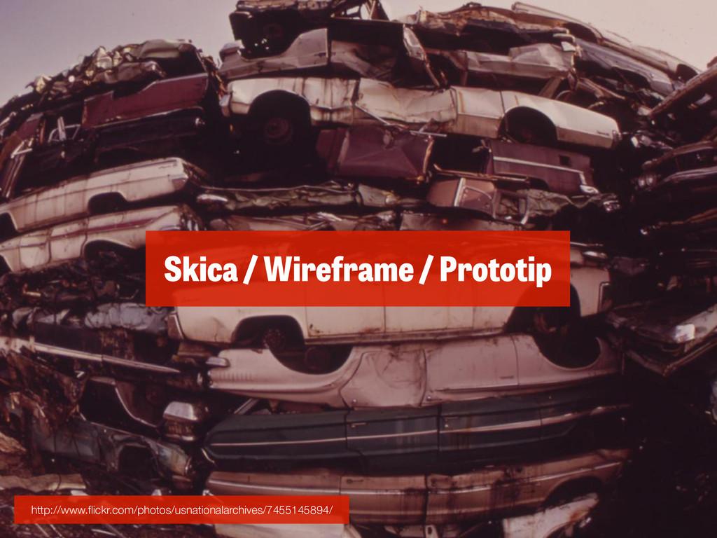 Skica / Wireframe / Prototip http://www.flickr.c...