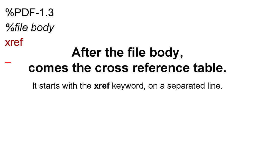 %PDF-1.3 %file body xref _ After the file body,...
