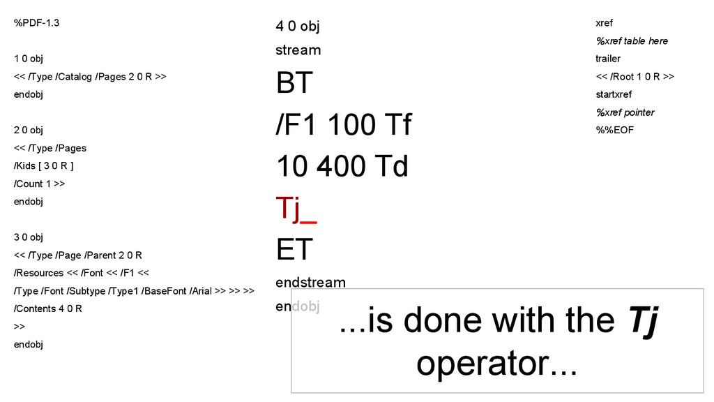 4 0 obj stream BT /F1 100 Tf 10 400 Td Tj_ ET e...