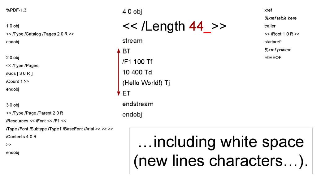 4 0 obj << /Length 44_>> stream BT /F1 100 Tf 1...