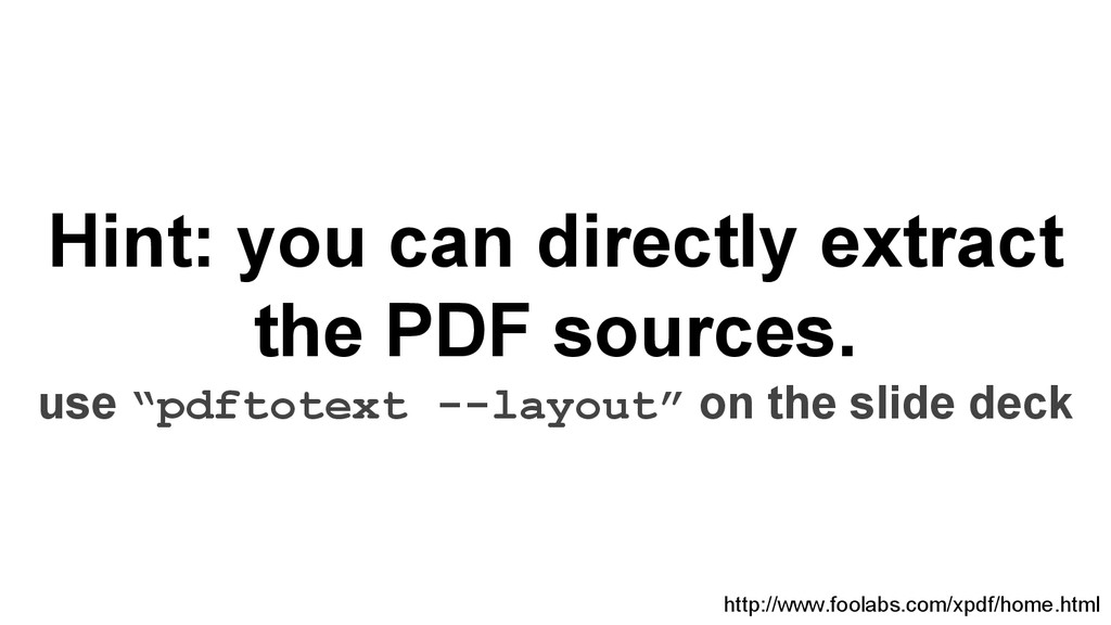Hint: you can directly extract the PDF sources....