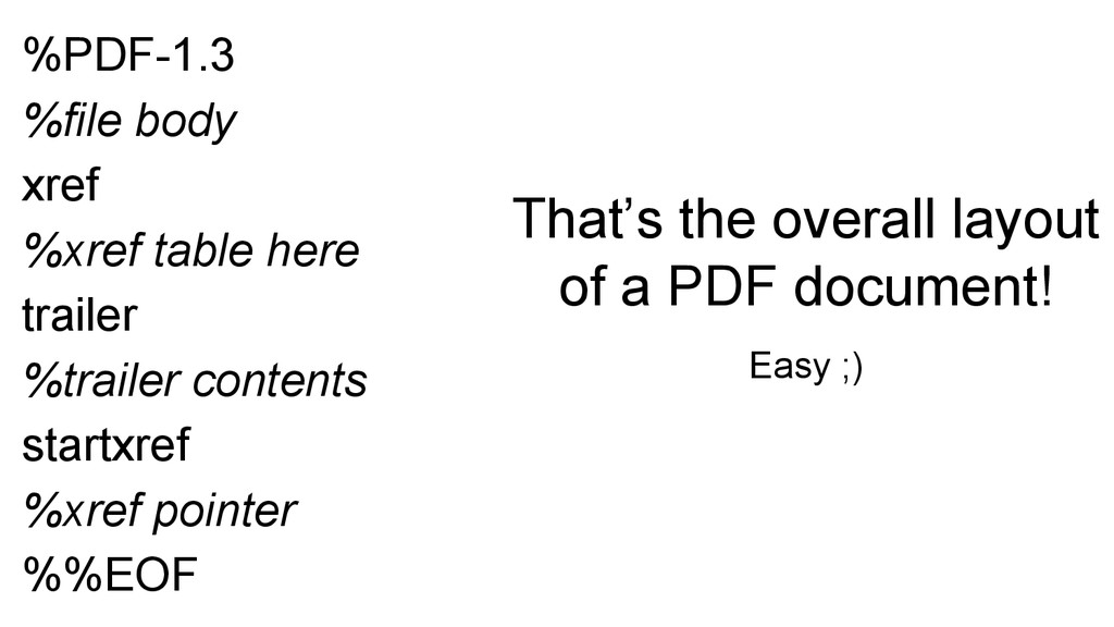 %PDF-1.3 %file body xref %xref table here trail...