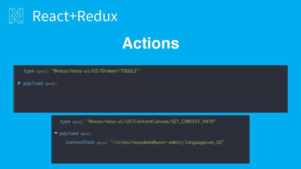 Actions React+Redux