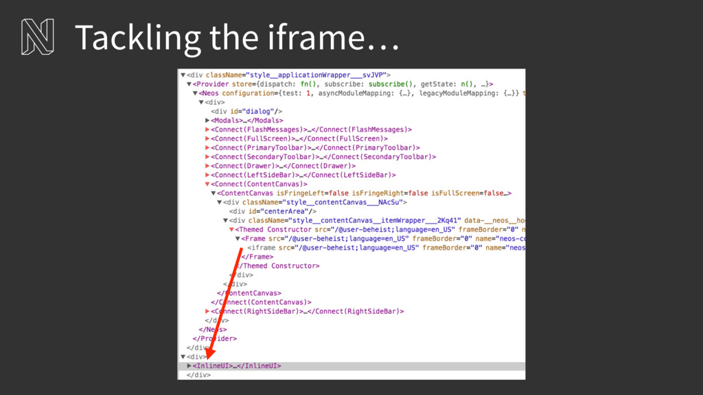 Tackling the iframe…