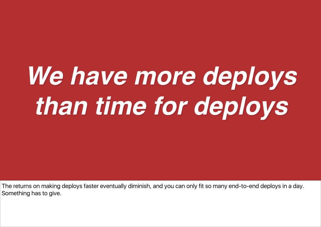 The returns on making deploys faster eventually...