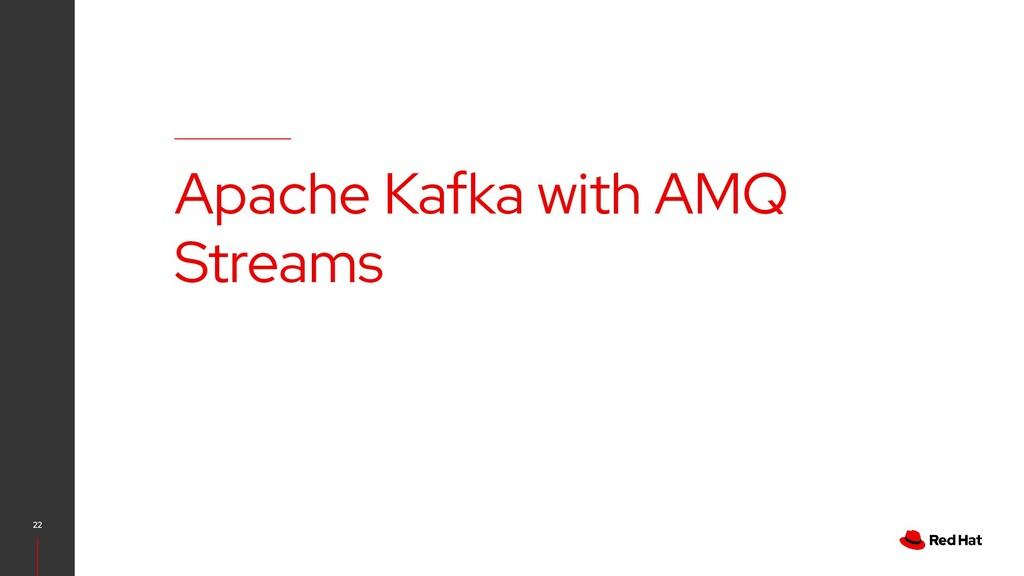 22 Apache Kafka with AMQ Streams