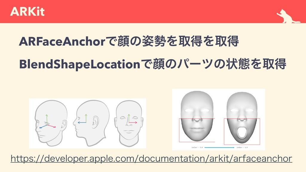 ARKit ARFaceAnchorͰإͷΛऔಘΛऔಘ BlendShapeLocati...