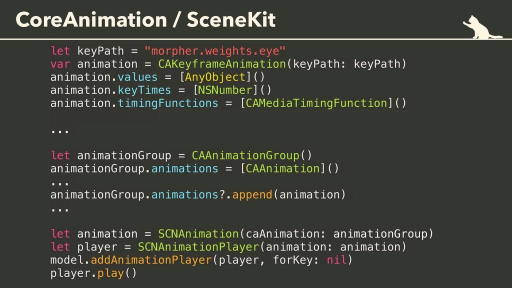 "CoreAnimation / SceneKit let keyPath = ""morpher..."