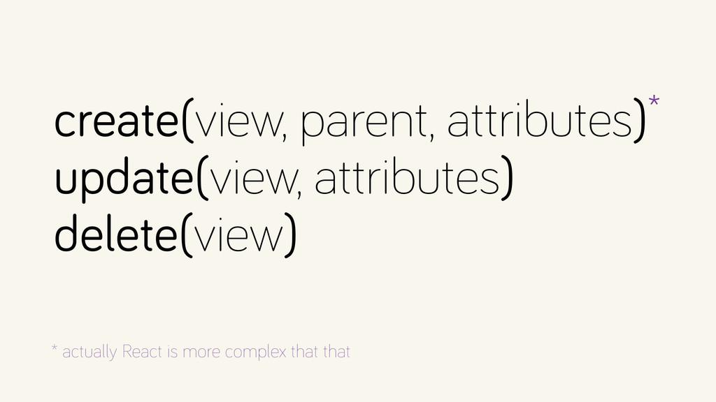 create(view, parent, attributes)* update(view,...