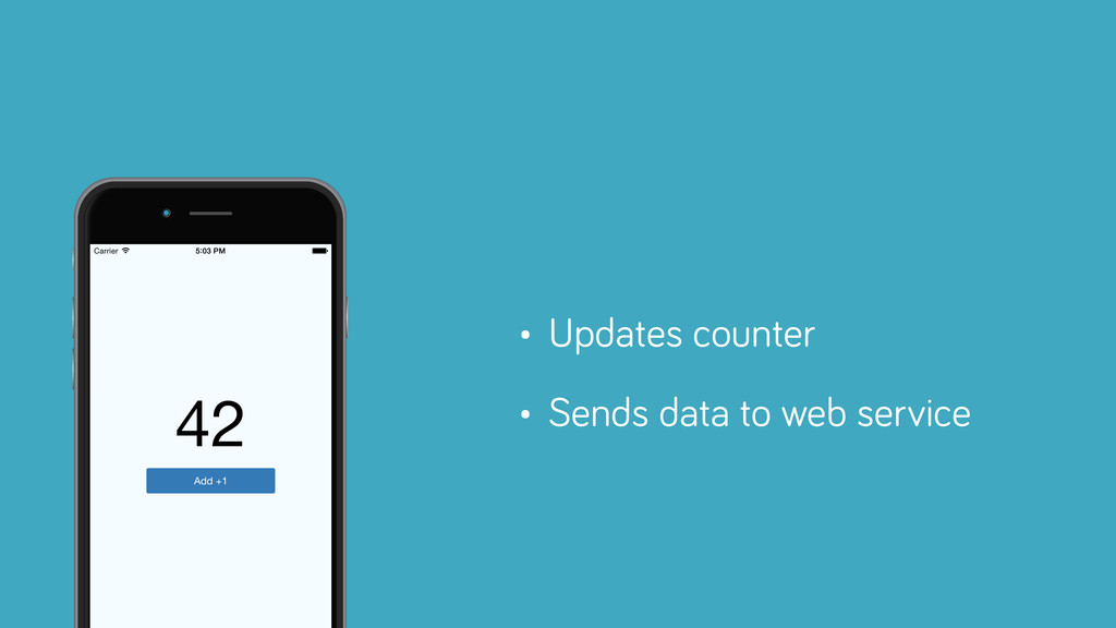 • Updates counter • Sends data to web service