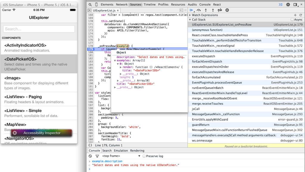 Live demo iPhone -> Chrome