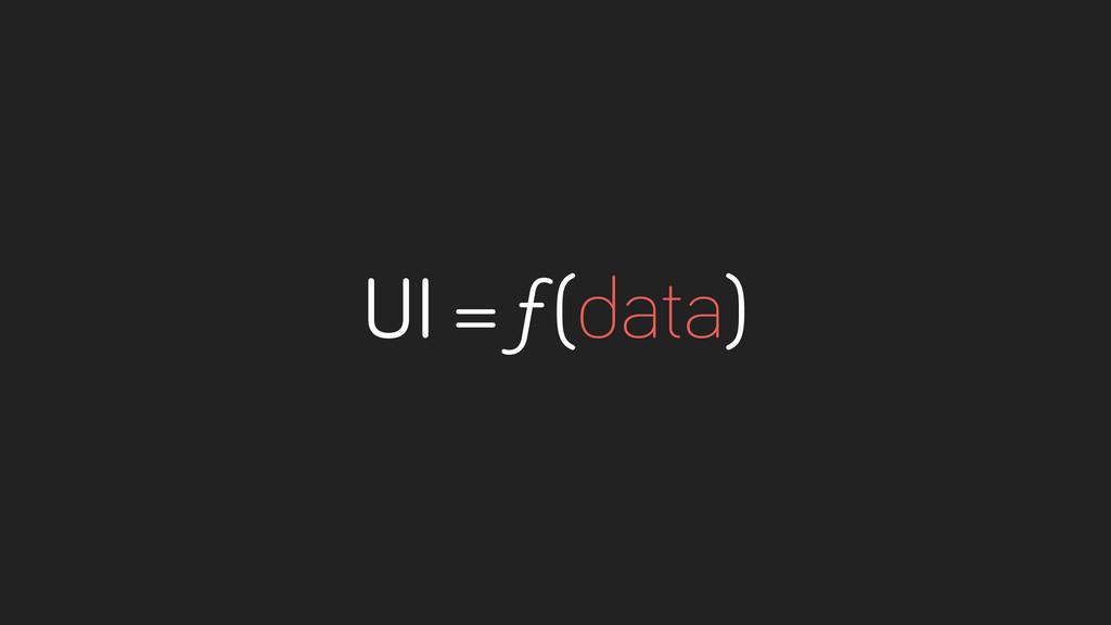 UI = ƒ(data)