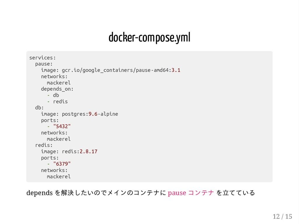 docker-compose.yml services: pause: image: gcr....