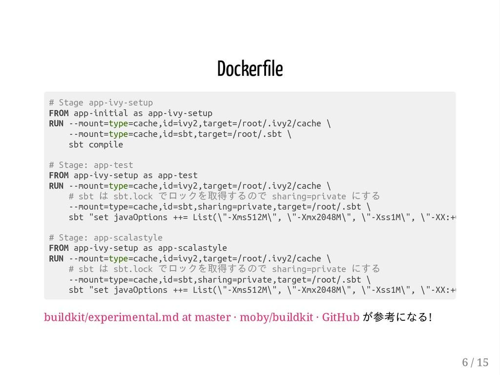 Docker le buildkit/experimental.md at master · ...