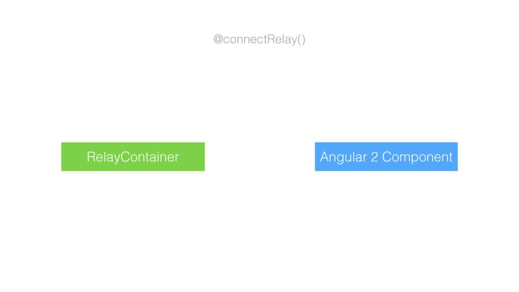 @connectRelay() Angular 2 Component RelayContai...