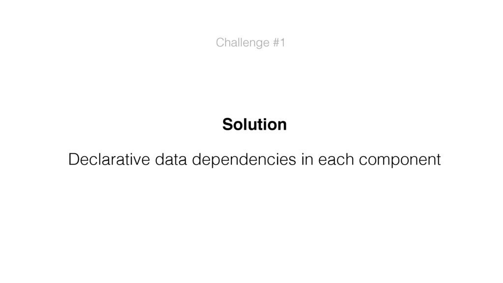 Challenge #1 Solution Declarative data dependen...