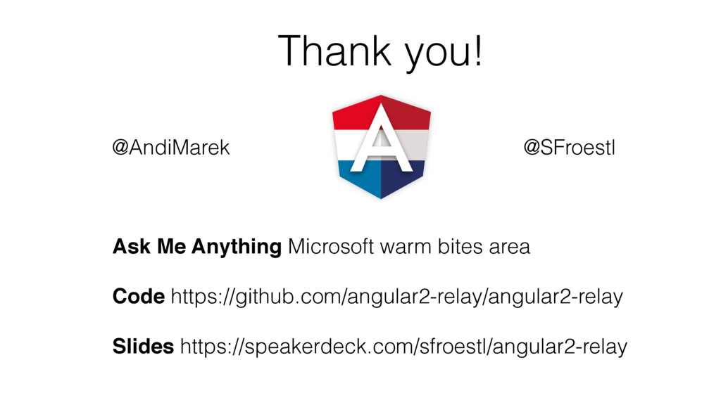 Thank you! Ask Me Anything Microsoft warm bites...