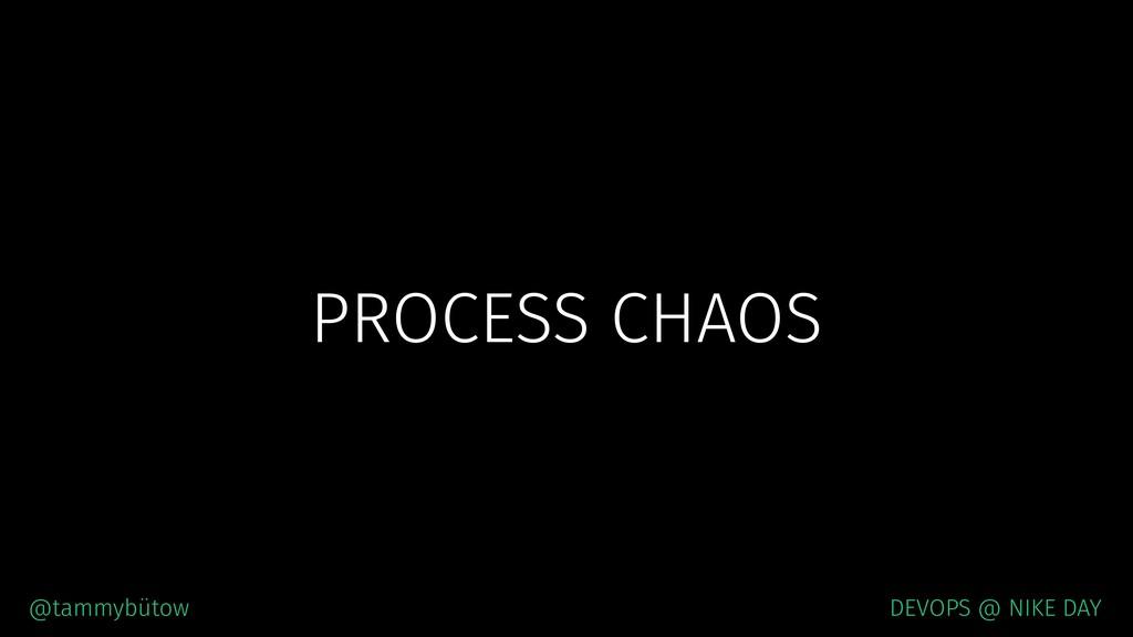 PROCESS CHAOS @tammybütow DEVOPS @ NIKE DAY