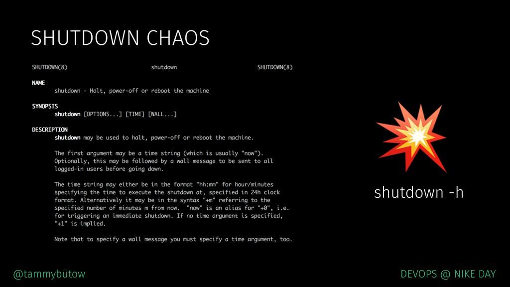 @tammybütow DEVOPS @ NIKE DAY SHUTDOWN CHAOS  s...