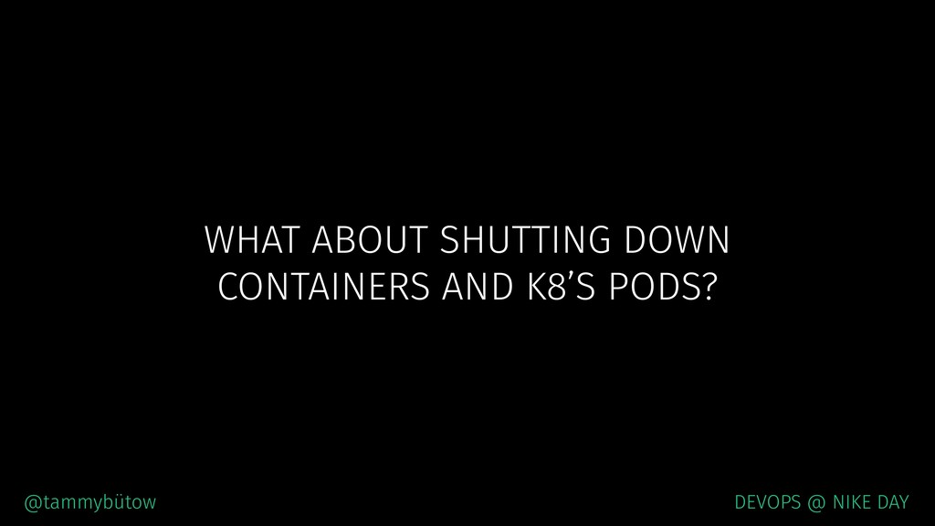 WHAT ABOUT SHUTTING DOWN CONTAINERS AND K8'S P...