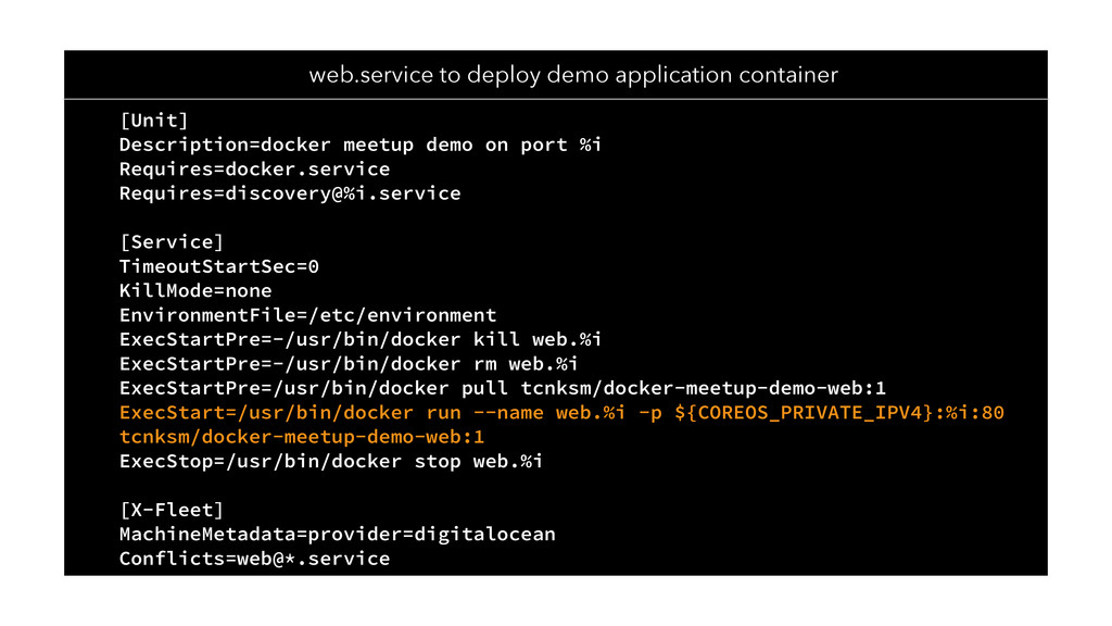 web.service to deploy demo application containe...