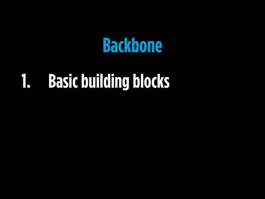 1. Basic building blocks Backbone