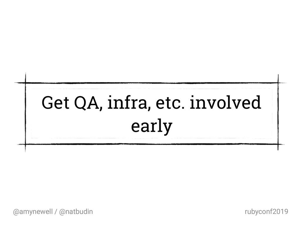@amynewell / @natbudin rubyconf2019 Get QA, inf...